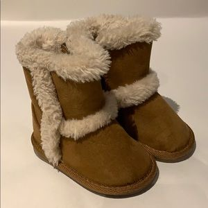 Teeny toes cognac boot size 2